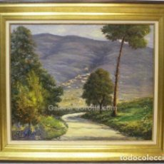 Arte: PAISAJE - ESCUELA HOLANDESA - OLEO SOBRE LIENZO - 97X84 CM. Lote 98734408