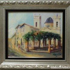 Arte: CAMPANARIO - ANTONIO SEGRELLES - OLEO SOBRE LIENZO - 80X71 CM. Lote 98735135