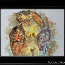 Arte: FIGURAS - ESCUELA HOLANDESA - OLEO SOBRE TABLA - 49X39 CM. Lote 98735516