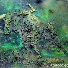 Arte: TORO - EUGENIA PASTOR - MIXTA SOBRE TABLA - 90X70 CM. Lote 98736030