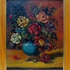 Arte: FLORES - ESCUELA HOLANDESA - OLEO SOBRE LIENZO - 69X58 CM. Lote 98736046