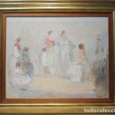 Arte: GITANAS - FERREIRA - OLEO SOBRE LIENZO - 107X91 CM. Lote 98736206