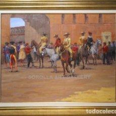 Arte: PATIO DE CABALLOS - ENRIQUE PASTOR - OLEO SOBRE LIENZO - 145X118 CM. Lote 98736330