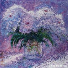 Arte: BLANCOLORES - ANDRÉS RUEDA - OLEO SOBRE LIENZO - 60X60 CM. Lote 211639051