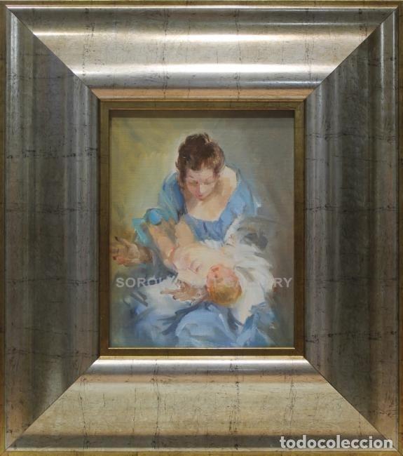 MATERNIDAD (APUNTE) - FERREIRA - OLEO SOBRE LIENZO - 44X39 CM (Arte - Pintura - Pintura al Óleo Contemporánea )