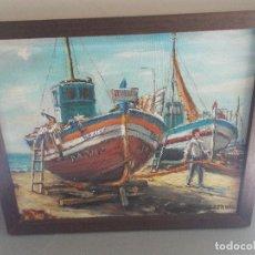 Arte: ÓLEO SOBRE TELA / MARINA FIRMADO POR J. BERNAL MEDIDAS CON MARCO 45 X 37 CMS (SR). Lote 133545954