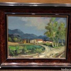 Arte: CUADRO DE PINTURA AL ÓLEO FIRMADO J. GRAU CON MOTIVO DE MASIA. Lote 133560349