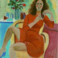 Arte: JORDI CURÓS (OLOT, 1930-2017), TÉC. MIX./TABLEX 55 X 46 CM. FIRMADO. AÑOS 70.. Lote 133600286