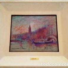 Arte: MAGNIFICO CUADRO DE JOSEP MARFA GUARRO - VENECIA - VIA SCHIAVONI - AÑO 1990 -. Lote 133637362