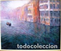 MAGNIFICO CUADRO DE JOSEP MARFA GUARRO - PINTURA - VENECIA GRAN CANAL - AÑO 1990 - (Arte - Pintura Directa del Autor)