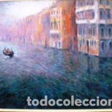 Arte: MAGNIFICO CUADRO DE JOSEP MARFA GUARRO - PINTURA - VENECIA GRAN CANAL - AÑO 1990 -. Lote 133645918