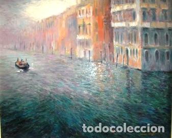 Arte: MAGNIFICO CUADRO DE JOSEP MARFA GUARRO - PINTURA - VENECIA GRAN CANAL - AÑO 1990 - - Foto 2 - 133645918