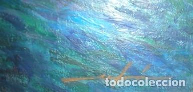Arte: MAGNIFICO CUADRO DE JOSEP MARFA GUARRO - PINTURA - VENECIA GRAN CANAL - AÑO 1990 - - Foto 3 - 133645918