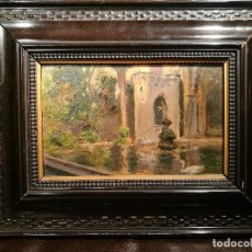 Arte: CLAUSTRO DE LA CATEDRAL DE BARCELONA. ESCUELA CATALANA CIRCA 1900.. Lote 133658814