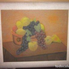 Arte: PINTURA IMPRESIONISTA BODEGON DE FRUTAS AL PASTEL MEDIDAS 72 X 61. Lote 133663970