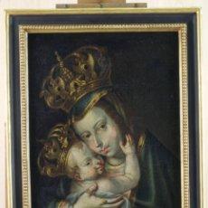 Arte: VIRGEN DE BELÉN CON NIÑO ÓLEO SOBRE LIENZO REENTELADO ESCUELA ESPAÑOLA FINALES DEL SIGLO XVII. Lote 133717422