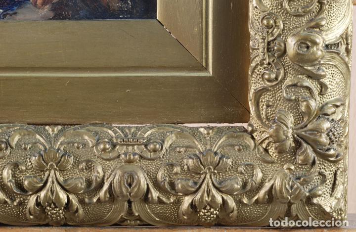Arte: Apunte pareja de querubines óleo sobre tabla siguiendo modelos de Murillo siglo XIX - Foto 6 - 133721334