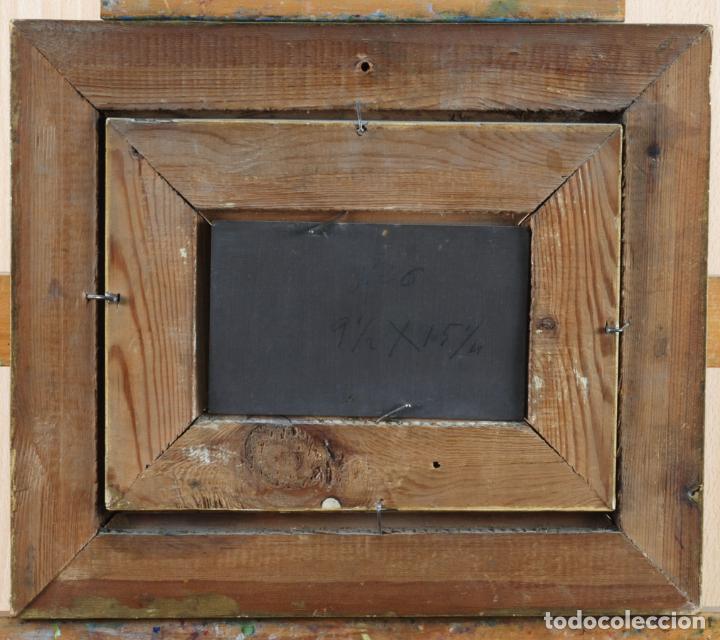 Arte: Apunte pareja de querubines óleo sobre tabla siguiendo modelos de Murillo siglo XIX - Foto 7 - 133721334