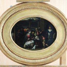 Arte: ADORACIÓN DE LOS PASTORES ÓLEO SOBRE COBRE ESCUELA FLAMENCA INFLUENCIA ITALIANA SIGLO XVII. Lote 133724502
