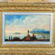 Kunst - Marina paisaje gallego óleo sobre tabla firmado Maria fechado en 1891 - 133727602