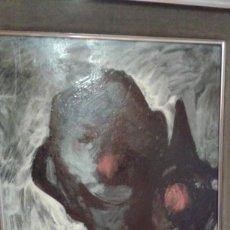 Arte: JORDI MERCADE OLEO PAYASO 0.90X0.60. Lote 133789958