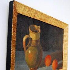 Kunst - ANTIGUO ÓLEO SOBRE TABLA CON MARCO DE MADERA DORADA EN PAN DE ORO ,FIRMADO M. LINARES - 133827070