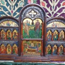 Arte: RETABLO PORTATIL CON PINTURAS RELIGIOSAS. Lote 133833783