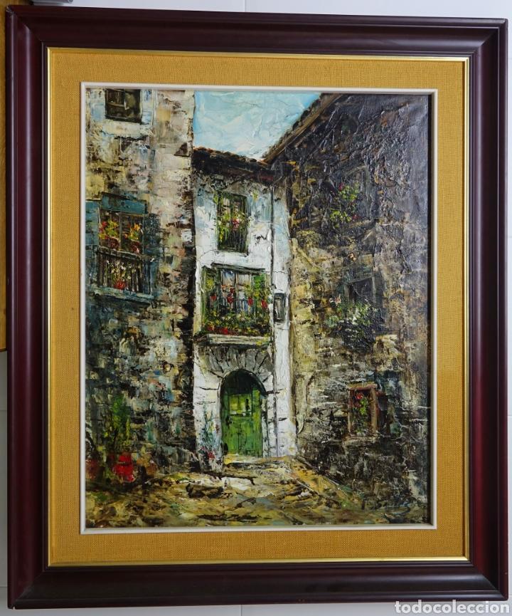 CUADRO DEL RONCAL DEL PINTOR FERMÍN SANTOS ALCALDE (Arte - Pintura - Pintura al Óleo Antigua sin fecha definida)