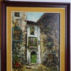 Arte: CUADRO DEL RONCAL DEL PINTOR FERMÍN SANTOS ALCALDE. Lote 133878378