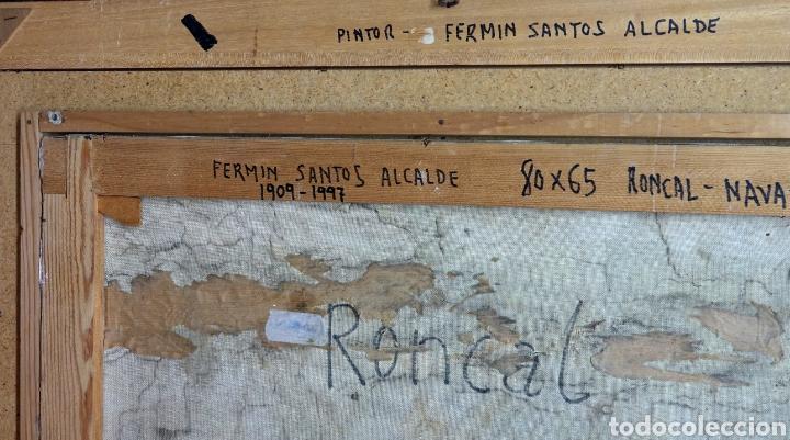 Arte: CUADRO DEL RONCAL DEL PINTOR FERMÍN SANTOS ALCALDE - Foto 3 - 133878378