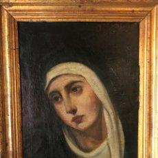 Arte: MADONNA, ÓLEO SOBRE LIENZO, S. XVII, MARCO DE ÉPOCA. Lote 133901334