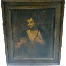 Arte: ANTIGUO ÓLEO SOBRE LIENZO DE APOSTOL TOMÁS. SIGLO XVII. MARCO POSTERIOR. VER FOTOS. 122X102 CM. Lote 133848746