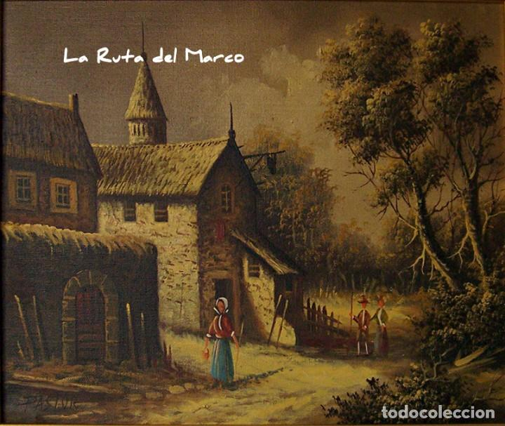 Arte: Pastor - Dos cuadros de óleo sobre lienzo enmarcados - Foto 4 - 133959286