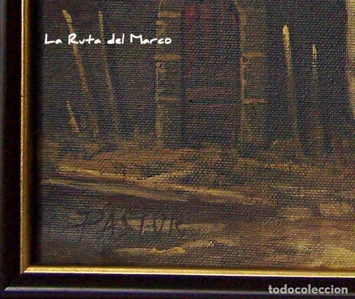 Arte: Pastor - Dos cuadros de óleo sobre lienzo enmarcados - Foto 7 - 133959286