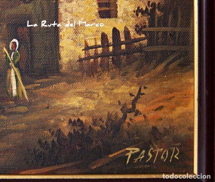 Arte: Pastor - Dos cuadros de óleo sobre lienzo enmarcados - Foto 12 - 133959286