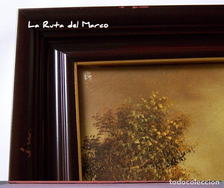 Arte: Pastor - Dos cuadros de óleo sobre lienzo enmarcados - Foto 14 - 133959286