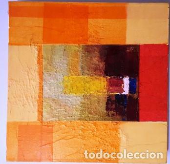 MAGNIFICO CUADRO ABSTRACTO SIN FIRMA DEL AUTOR DE MEDIDAS 30 CTMS X 30 CTMS - (Arte - Pintura - Pintura al Óleo Contemporánea )