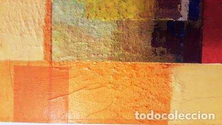 Arte: MAGNIFICO CUADRO ABSTRACTO SIN FIRMA DEL AUTOR DE MEDIDAS 30 CTMS X 30 CTMS - - Foto 4 - 133992338