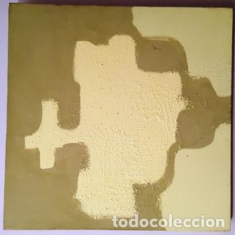 MAGNIFICO CUADRO ABSTRACTO SIN FIRMA DEL AUTOR DE MEDIDAS 40 CTMS X 40 CTMS - (Arte - Pintura - Pintura al Óleo Contemporánea )