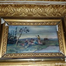 Arte: MINIATURA. OLEO SOBRE TABLA. FIRMADA. Lote 134034342