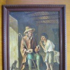 Arte: ÓLEO SOBRE TABLA. AUTOR FRANCISCO JIMENEZ DE CORDOBA. TABLA 44,5X31,5 CM. MARCO 52X38,5 CM. Lote 134039782