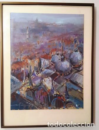 MAGNIFICO CUADRO DE JOSEP MARFA GUARRO - PINTURA - VENECIA - AÑO 1990 - (Arte - Pintura Directa del Autor)