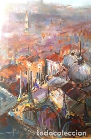 Arte: MAGNIFICO CUADRO DE JOSEP MARFA GUARRO - PINTURA - VENECIA - AÑO 1990 - - Foto 2 - 134039998