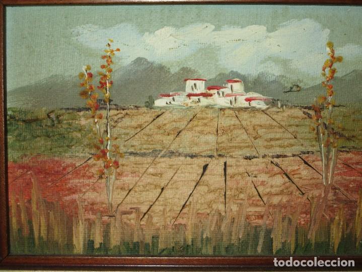 PINTURA OLEO ANTIGUO EN TABLE AÑOS 70 A 80 CAMPO PAISAJE (Arte - Pintura - Pintura al Óleo Antigua sin fecha definida)