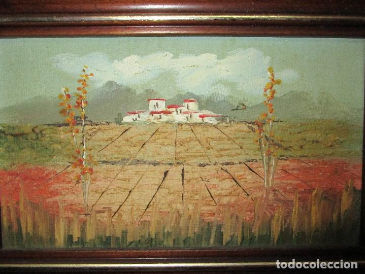 Arte: PINTURA OLEO ANTIGUO EN TABLE AÑOS 70 A 80 CAMPO PAISAJE - Foto 2 - 134042182