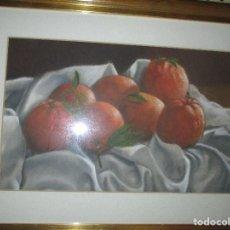 Arte: PINTURA A,ICANTINA NARANJAS PRECIOSA OBRA DE ESTELA , ALICANTE PINTURA AL PASTEL. Lote 134065990