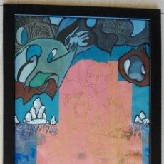 Arte: ANTONI MARTÍ (SEUDÓNIMO, CASSERRES 1.960) - ÓLEO ENMARCADO CRISTAL 46 X 34. Lote 134070470