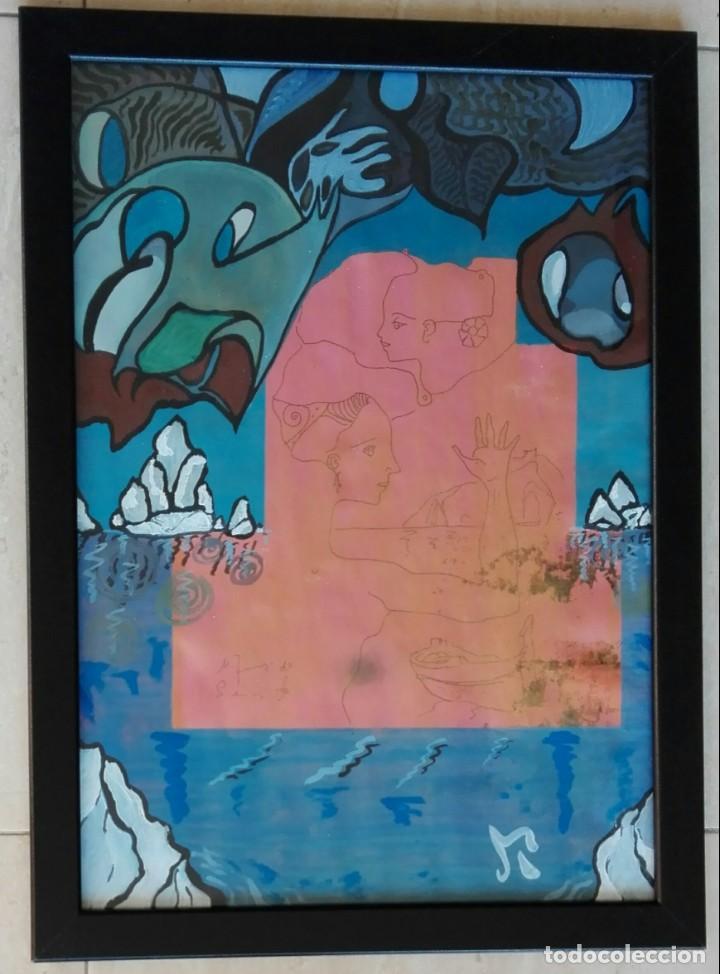 Arte: ANTONI MARTÍ (SEUDÓNIMO, CASSERRES 1.960) - ÓLEO ENMARCADO CRISTAL 46 X 34 - Foto 2 - 134070470
