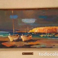 Arte: MAGNIFICO CUADRO DE JOSEP MARFA GUARRO - PINTURA - PORT DE LLANÇA - AÑO 1990 -. Lote 134079362