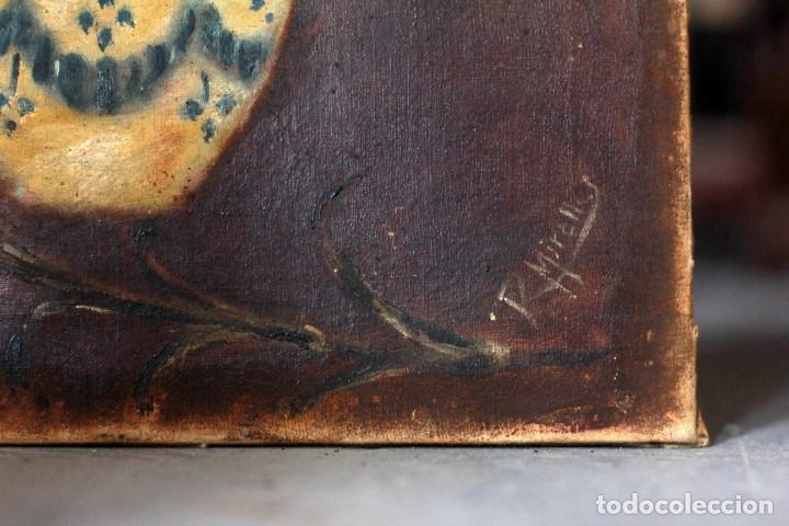 Arte: R. MIRALLES, OLEO SOBRE LIENZO, BODEGÓN DE FLORES, RAMON MIRALLES BOSCA? 32X44CM - Foto 4 - 134197294